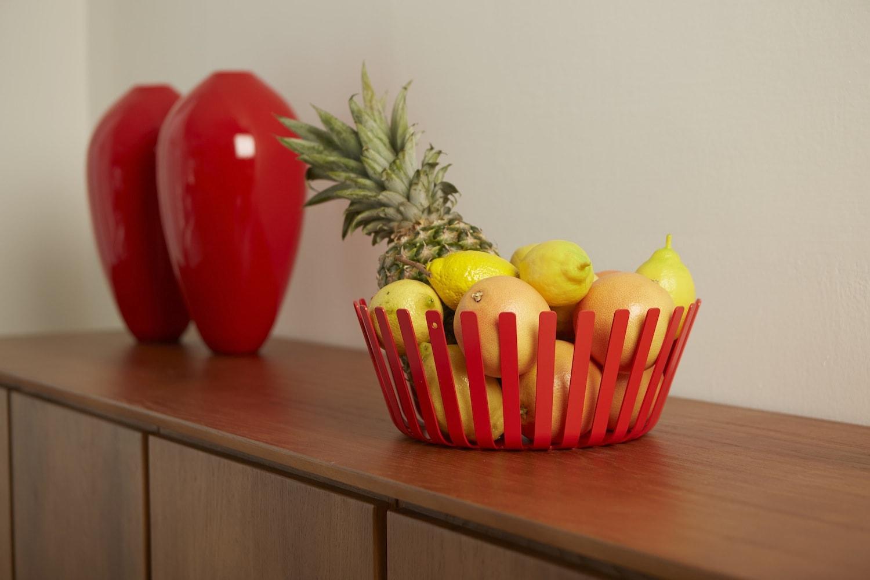 Cesto porta frutta design colore rosso MEDUSA