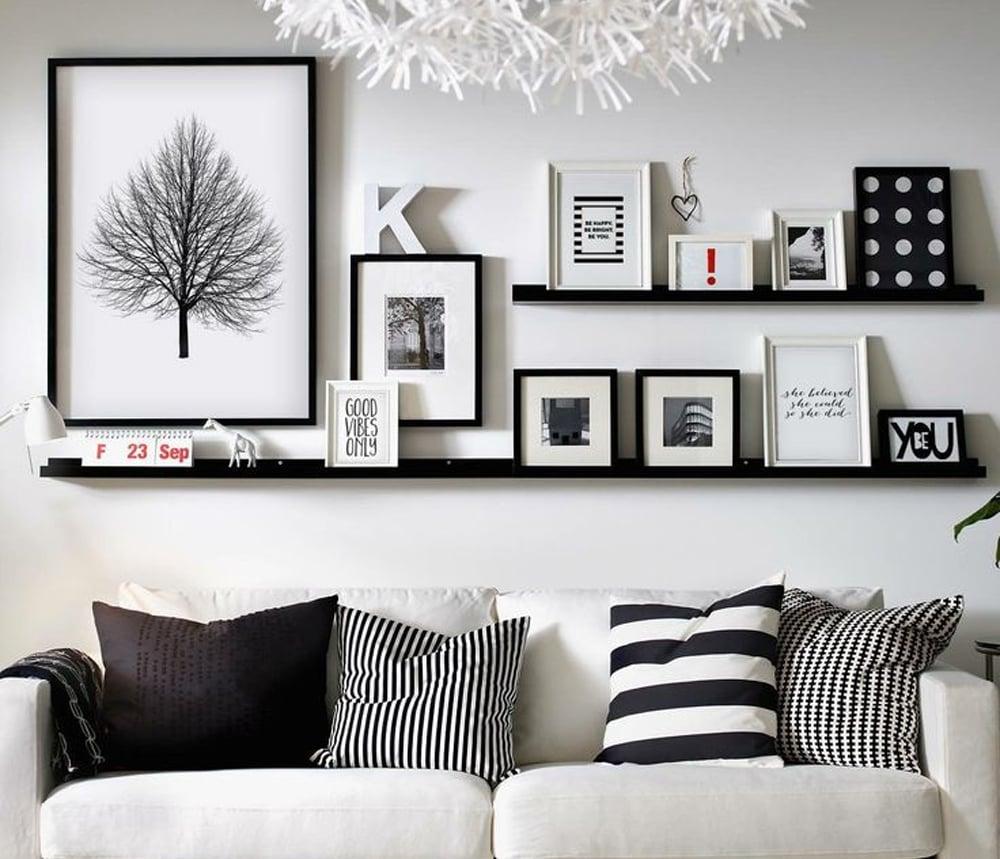 Decorare-la-parete-in-bianco-e-nero