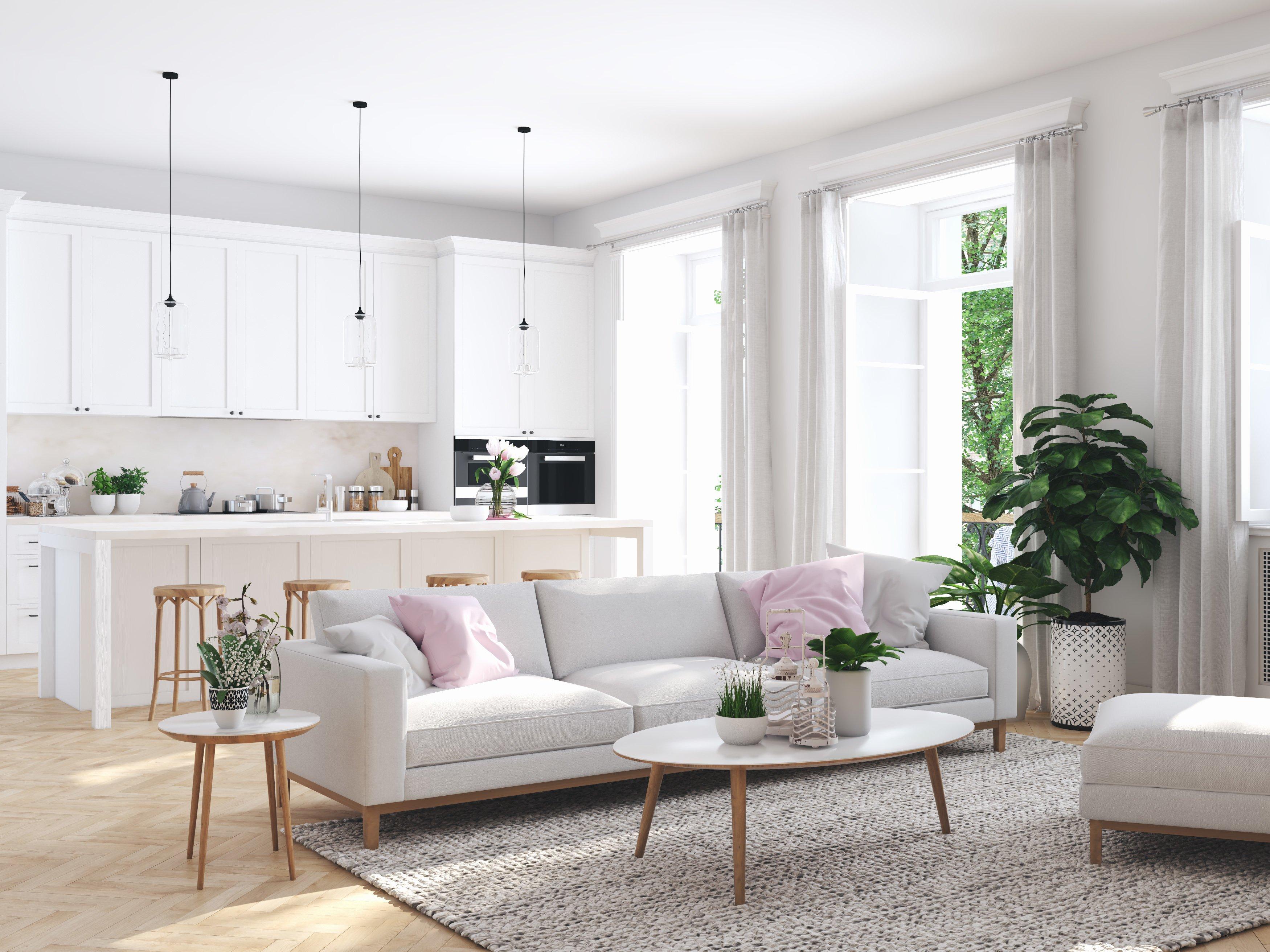 5 combinazioni colore per dividere la cucina dal soggiorno