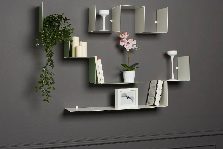 Parete attrezzata design moderno con mensole modulari Biancaevolta-1