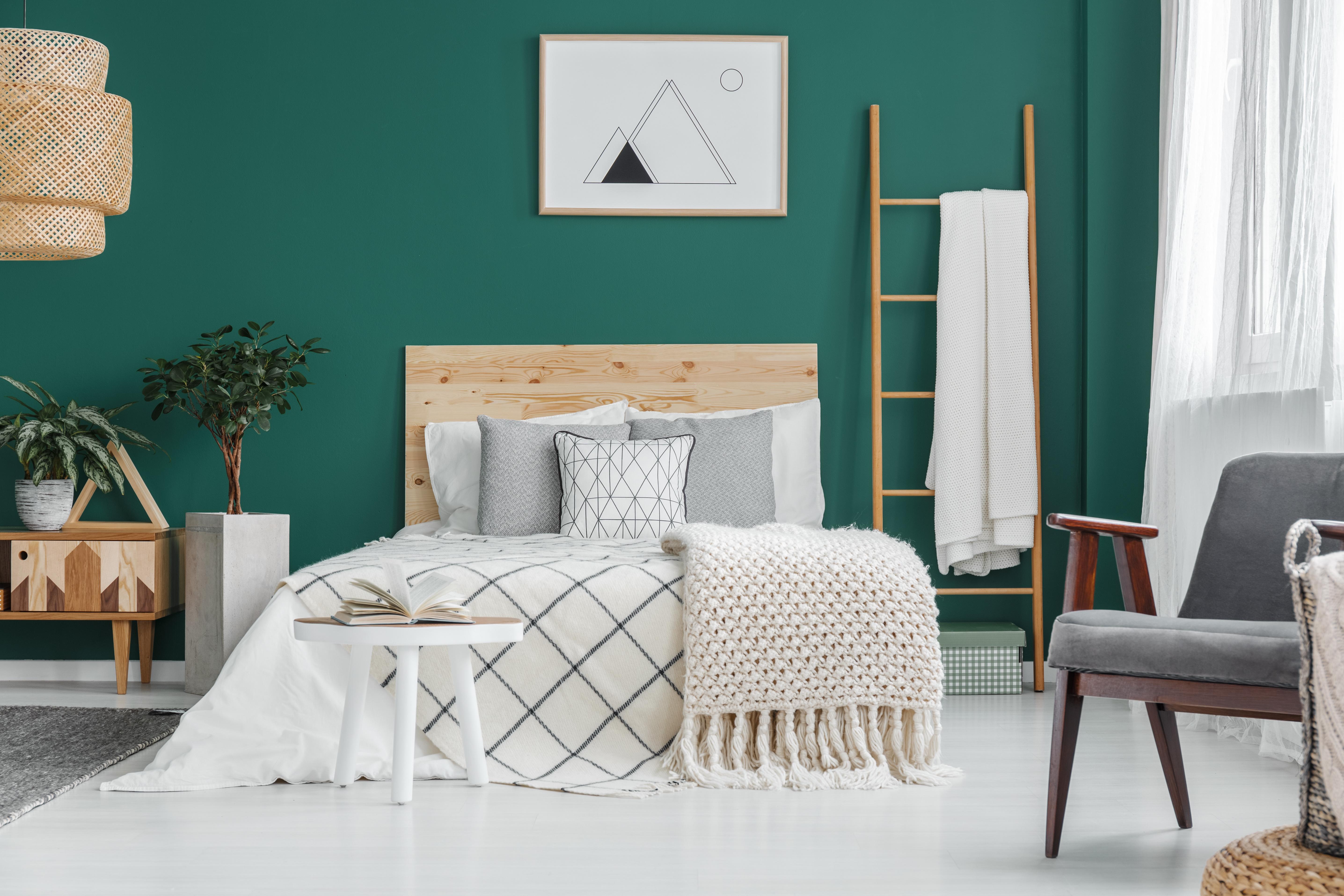 Il colore verde in camera da letto