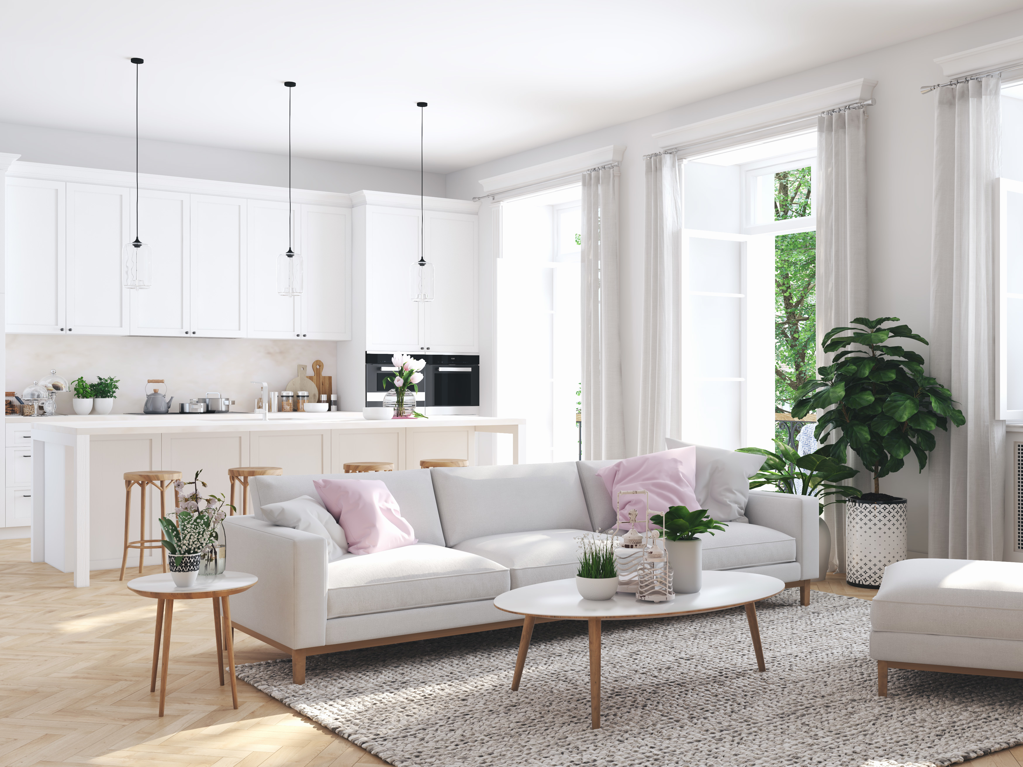 Tende Sala E Cucina 5 combinazioni colore per dividere la cucina dal soggiorno