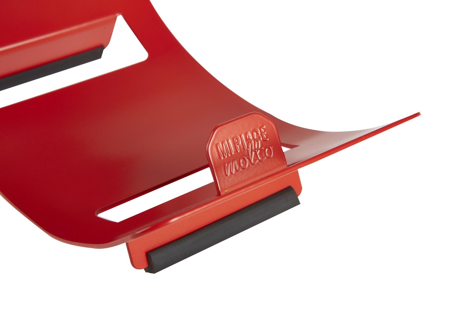 Portabottiglie design da tavolo in metallo colore rosso ciliegia_dettaglio MOON