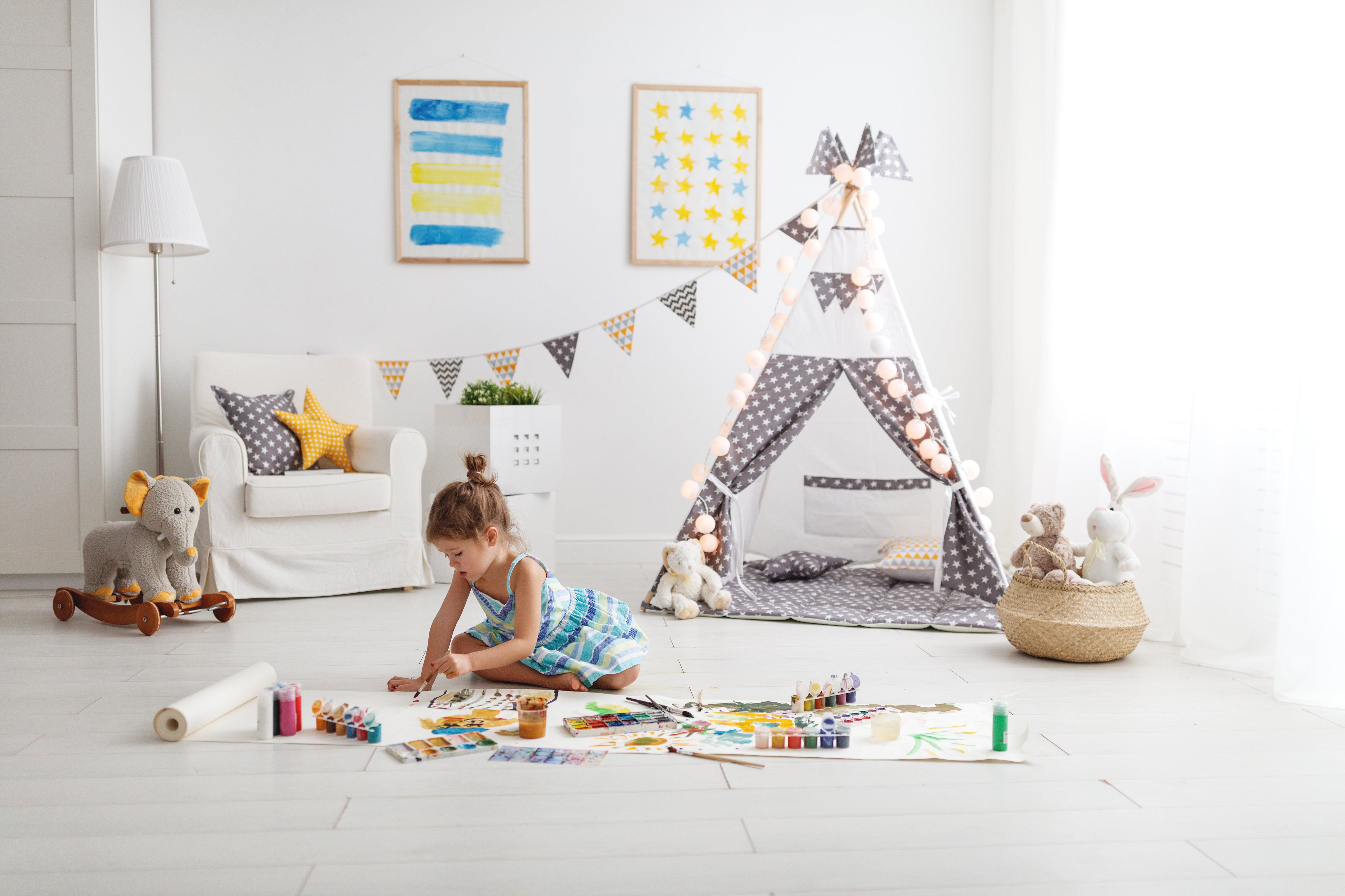 Idee Pittura Cameretta Bambina idee colorate per decorare la cameretta dei bambini
